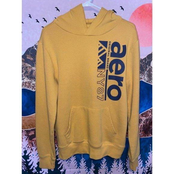 Aeropostale Hoodie / Sweatshirt size Medium Yellow